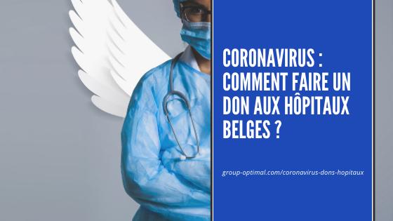 Coronavirus - Faire un don aux hopitaux